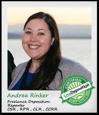 LiveDeposition Certified Reporter Spotlight Andrea Rinker