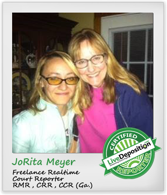 LiveDeposition Certified Reporter Spotlight JoRita Meyer